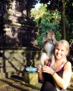 Vuonna 2009, 21-vuotiaana, maailmaa kokemassa Balilla Indonesiassa.